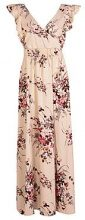 Boutique Aimee Floral Bow Back Maxi Dress
