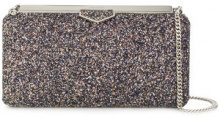 Jimmy Choo - Glitzy glitter fabric clutch bag - women - Sequin - One Size - METALLIC