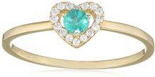 Tous mes bijoux Donna  9 carati  Oro giallo    G verde Smeraldo Diamante FINERING, Oro giallo, 8, cod. BADM07030-0001