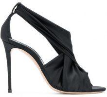 Casadei - Sandali con drappeggio incrociato - women - Silk Satin/Nappa Leather/Leather - 35, 35.5, 36, 36.5, 37, 37.5, 38.5, 40.5, 41, 40, 38, 39, ...