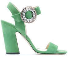 Jimmy Choo - Mischa 100 sandals - women - Leather/Suede - 36, 37, 37.5, 38, 38.5, 39, 40 - GREEN