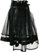 Comme Des Garçons Noir Kei Ninomiya - Gonna midi svasata - women - Polyester/Polyurethane - OS - BLACK