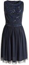 ESPRIT Collection elegante Musterverzierung-Vestito Donna Blu (Nave 400) 36