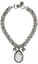 Alexander McQueen - jewelled necklace - women - Brass - OS - METALLIC