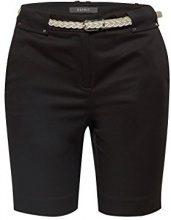 ESPRIT Collection 058eo1c002, Pantaloncini Donna, Nero (Black 001), W34 (Taglia Produttore: 34)