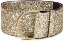 Antonio Marras - Cintura glitter - women - Leather/PVC - OS - METALLIC