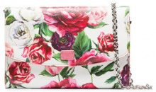 Dolce & Gabbana - floral print wallet clutch bag - women - Calf Leather - One Size - Rosa & viola