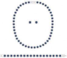Swarovski base metal bianco blu Cristallo FASHIONOTHER