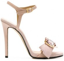 Marc Ellis - Sandali con fiocco e decorazione gioiello - women - Leather/Suede - 36, 37, 38, 39, 40 - PINK & PURPLE