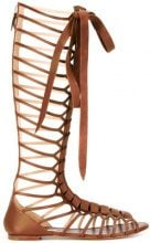Casadei - knee-length strappy daytime sandals - women - Calf Leather/Leather/Kid Leather - 37, 38, 39, 39.5, 40.5 - BROWN