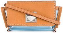 Sonia Rykiel - mini crossbody bag - women - Calf Leather/PVC - OS - BLUE