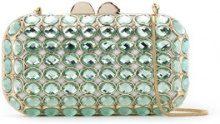 Isla - Maxi Crystal clutch bag - women - Glass Fiber/Metallized Polyester/metal - OS - GREEN