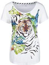 Marc Cain Sports JS 48.11 J82, T-Shirt Donna, Mehrfarbig (Rain Forest 582), 46