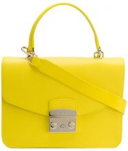 Furla - Borsa a spalla 'Metropolis' - women - Leather/Viscose/Nylon - OS - YELLOW & ORANGE