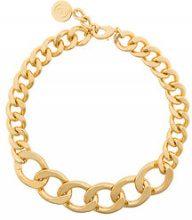Mm6 Maison Margiela - Collana a catena - women - Brass - One Size - METALLIC