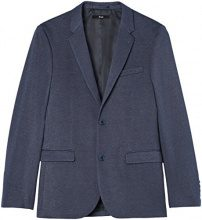 FIND Blazer in Jersey Uomo, Blu (Navy), Medium (Taglia Produttore: 40R)