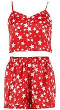 Hazel Star Print Crop & Shorts