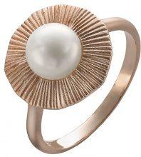 Orphelia 925 argento perla donna-Anello Perla-Perle coltivate bianco, Argento, 10, colore: 18 Karat Rose-Gold Plated, cod. ZR-3931/1/50