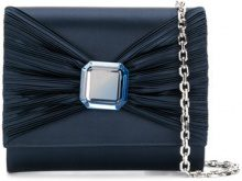 Casadei - Borsa Clutch con fiocco - women - Satin/Kid Leather - OS - BLUE