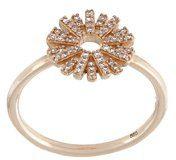Astley Clarke - Anello 'Rising Sun' - women - Diamond/14kt Gold - J, L, N, P - METALLIC