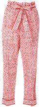 Lala Berlin - Pantaloni 'Damir' - women - Cotton - M - RED