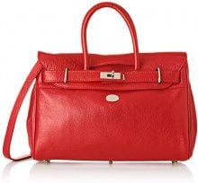 Mac Douglas, Borsa a mano donna 12.5x25x34.5 cm (W x H x L), Rosso (Rosso (Rouge Griotte 24GR)), 12.5x25x34.5 cm (W x H x L)