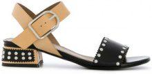 Sonia Rykiel - contrast strap sandals - women - Leather - 35, 36, 37 - NUDE & NEUTRALS