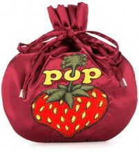 Hysteric Glamour - Borsa clutch 'Pop Berry' - women - Rayon - OS - Rosso