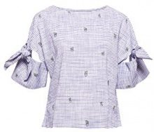 edc by Esprit 058cc1f005, Camicia Donna, Multicolore (Navy 400), Medium