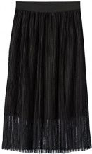 FIND Sheer Midi  Gonna Donna, Nero (Black), 42 (Taglia Produttore: Small)