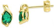 Miore Orecchini Donna Smeraldo Oro Giallo 9 Kt/375