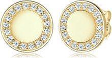 Elli PREMIUM Orecchini da donna classico scintillante oro giallo 375Diamante (0,34ct) taglio brillante bianco–0309982614