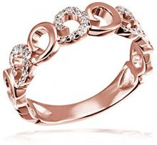 goldmaid FINERING - Anello, con Diamante, Oro rosso, misura 58 (18.5)