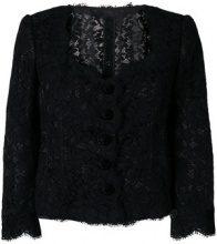 Dolce & Gabbana - Giacca in pizzo - women - Silk/Cotton/Nylon/Viscose - 44, 42, 40, 46 - BLACK