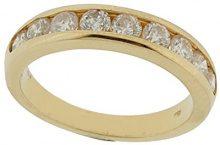 Orphelia Anello per donna oro & Diamond Collection 750giallo oro diamante (1.0ct) taglio rotondo bianco, oro giallo, 15, cod. RD-3046/55