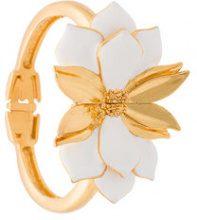 Oscar de la Renta - Bold petal bracelet - women - Resin/Brass/Pewter - OS - WHITE