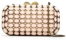 Isla - Maxi Crystal clutch bag - women - Metallized Polyester/Glass Fiber/metal - OS - NUDE & NEUTRALS