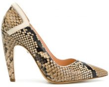 Just Cavalli - Pumps con effetto serpente - women - Leather - 35, 36, 37, 40 - NUDE & NEUTRALS