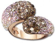 Swarovski Damen-Ring Louise Nude Swarovski-cristallo metallo dorato multicolore 11606, Placcato oro, 56 (17.8), colore: multicolore, cod. 1160665