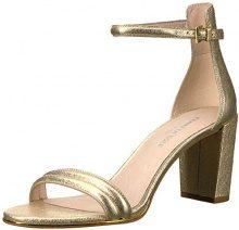 Kenneth Cole Lex, Sandali con Cinturino alla Caviglia Donna, Oro (Soft Gold), 42 EU
