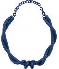 Oscar de la Renta - modern twist necklace - women - Brass - OS - BLUE