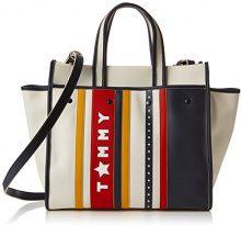 Tommy Hilfiger Heritage Tote Stars & Stripes - Borse Donna, Bianco Sporco (Stars Stripes), 18x30x38 cm (B x H T)