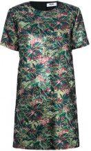 MSGM - Vestito floreale girocollo - women - Polyester/Metallic Fibre - 38, 40, 42 - GREEN