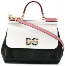 Dolce & Gabbana - logo plaque Sicily shoulder bag - women - Calf Leather - One Size - BLACK