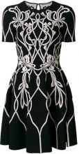 Alexander McQueen - knitted mini dress - women - Viscose/Polyester/Polyamide/Spandex/Elastane - S, L, M - Nero