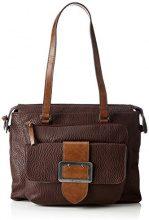Tamaris Lee Shoulder Bag - Borse a spalla Donna, Braun (Dark Brown Comb), 10x28x32 cm (B x H T)