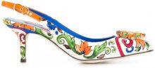 Dolce & Gabbana - Bellucci embellished slingback pumps - women - Leather/Viscose/Cotton - 36, 36.5, 37.5 - MULTICOLOUR