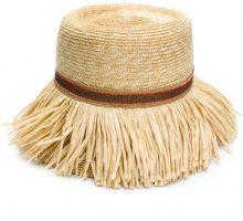 Ermanno Scervino - Cappello con frange - women - Viscose/Straw - M - NUDE & NEUTRALS