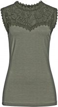 Top con pizzo (Verde) - BODYFLIRT