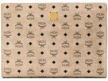 MCM - Clutch con logo - women - Calf Leather - OS - NUDE & NEUTRALS